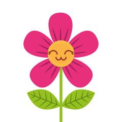 beautiful flower cute kawaii cartoon