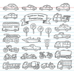 Transportation Vehicle Hand Drawing