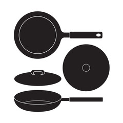 Frying Pan icon Vector Illustration. Flat Sign