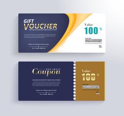 GIFT VOUCHER Template. Promo banner and gift for customer. vector illustration