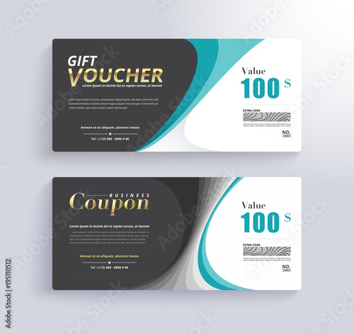 Gift voucher template promo banner and gift for customer vector gift voucher template promo banner and gift for customer vector illustration yelopaper Gallery