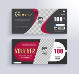 GIFT VOUCHER Template. Blank space for images.