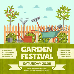 Garden festival colorful poster