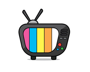 old television cartoon illustration , cartoon design style , designed for illustration