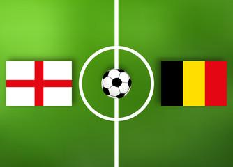 England VS Belgien - Fußball