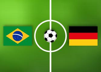 Deutschland VS Brasilien - Fußball