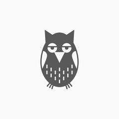 owl icon, bird vector