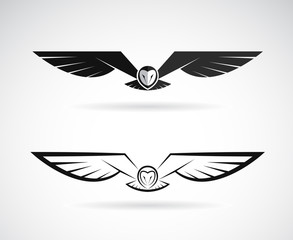 Vector of an owl design on a white background. Bird. Animals. Easy editable layered vector illustration.