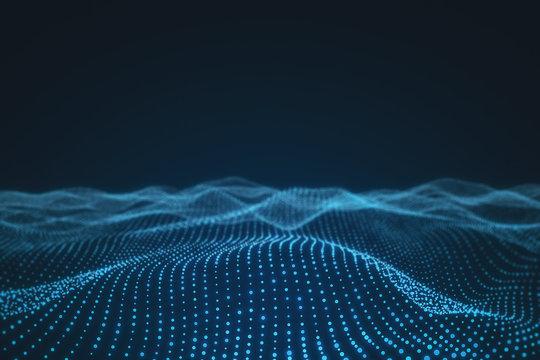 Creative polygonal wave backdrop