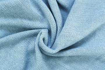 Nice Blue Knitted Fabric Texture