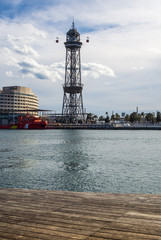 Photograph of the city of Barcelona in Spain. Exactly the place is la Barceloneta .