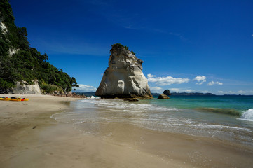 Poster Cathedral Cove Te Hoho Rock, Cathedral Cove, Hahei, Coromandel Peninsula, New Zealand