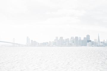 Fototapete - White city background