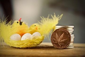 Easter marijuana coin