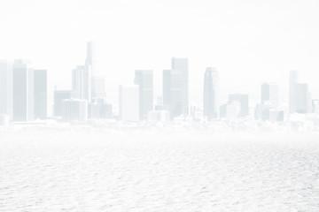 Fototapete - White city backdrop