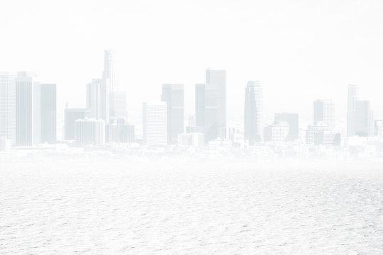 White city backdrop