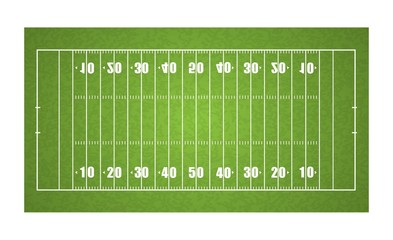 top view American football field, vector illustration