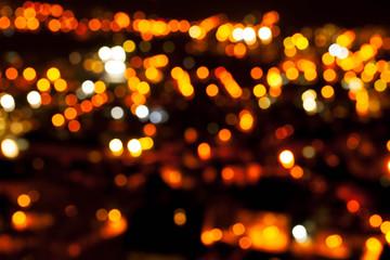 Bokeh of light in a beautiful city.