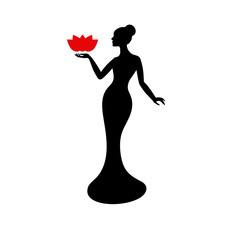 Beautiful lady silhouette