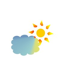 nature, cloud and summer icon