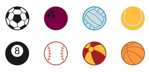 Bälle Icon - Farbe