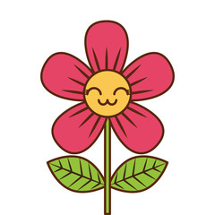 beautiful flower cute kawaii cartoon