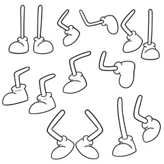 vector set of cartoon legs