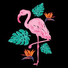 decorative tropical composition