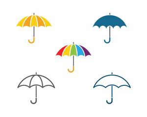 Obraz umbrella icon vector illustration - fototapety do salonu