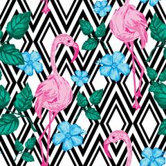 beautiful tropical  seamless pattern