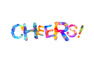 Cheers! Word of triangular letters