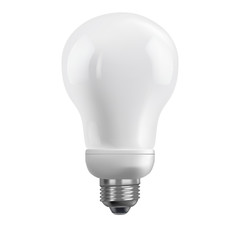 Energy saving bulb. Realistic illustration