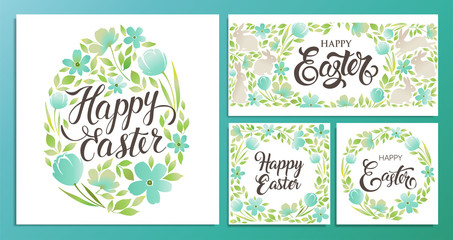 Happy Easter. Vector templates card, poster, flyer and other users. Design element.