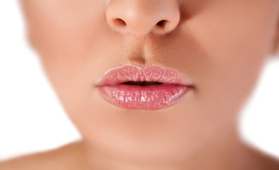 Female lips close up