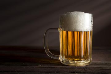 Pale beer in a jug