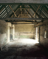Old redundant barn interior