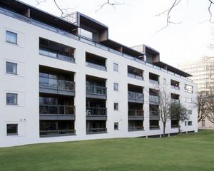 UK, Gloucestershire, Cheltenham, modern style apartment block