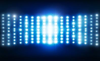 Spotlight of stage lights design. Vector illumination