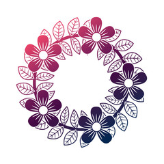 floral wreath flowers and leaves foliage decoration