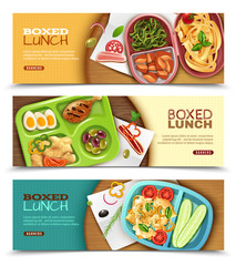 Boxed Lunch Horizontal Banners