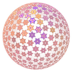 Abstract fractal sphere background