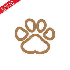 Brown Paw Prints . Vector Illustration
