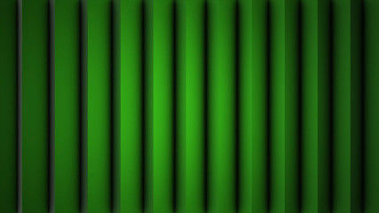 Digital perfectly loop of abstract green shade vertical lines moving background animation. Vertical moving stripes 3D animation