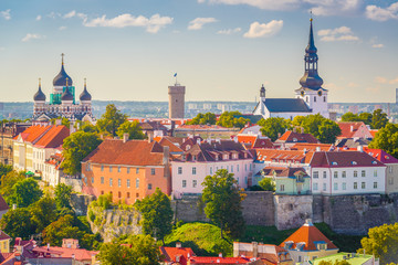 Tallinn, Estonia Historic Skyline