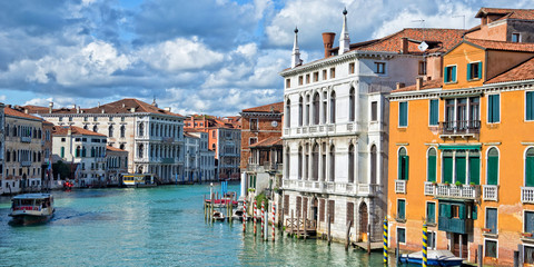 Wall Mural - Venice Italy, panorama of the Grand Canal