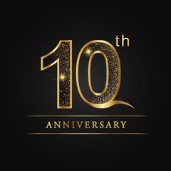 anniversary, aniversary, ten years anniversary celebration logotype. 10th anniversary logo.
