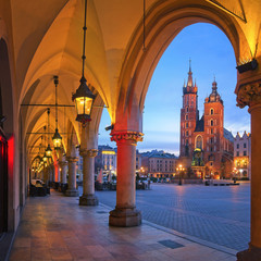 Old City of Krakow in the morning