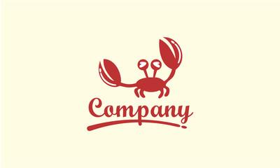 crab logo design template.seafood logo vector illustration logo design template.restaurant icon logotype