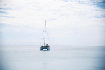Motor Boat in Calm Sea