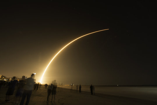 Space X Launch of Falcon 9 carrying Hispasat for Spain. March 6, 2018